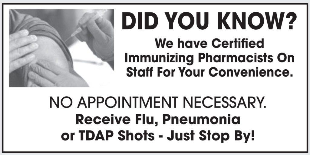 Immunizations available